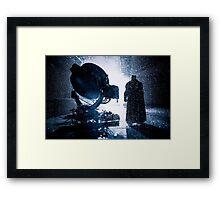 Batman Signal Rain Framed Print