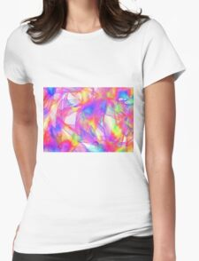scarf colours Womens Fitted T-Shirt