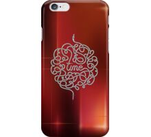 Time Typograph Art iPhone Case/Skin