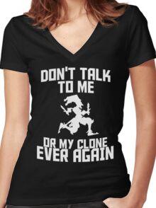 Shaco meme 2 Women's Fitted V-Neck T-Shirt
