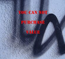 Message 16 - YOU CAN NOT PURCHASE VALUE by Tony Broadbent