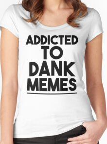 Dank memes Women's Fitted Scoop T-Shirt