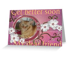 pumpkin get well wishes Greeting Card