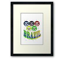 2016 brazil sloth's & mossies Framed Print