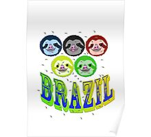 2016 brazil sloth's & mossies Poster