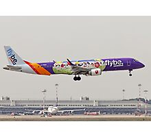 Flybe, Embraer 190-195 Photographed at Malpensa airport, Milan, Italy Photographic Print