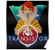 Transistor red Poster