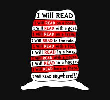 Read - I Will Read Anywhere Unisex T-Shirt