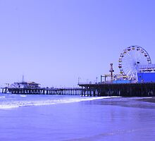 Purple Santa Monica Pier by stine1