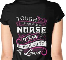 Tough Enough To Be A Nurse Women's Fitted Scoop T-Shirt