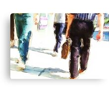 City Strides Canvas Print