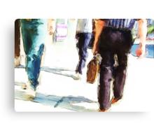 City Strides Canvas Print
