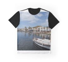 Fishing boat at Fornells, Minorca, Spain Graphic T-Shirt