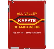 All Valley Karate Championship (aged look) iPad Case/Skin