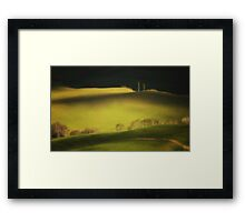 Two cypresses Framed Print