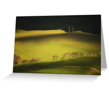 Two cypresses Greeting Card