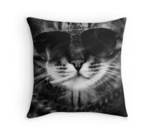 Bad Cat S/W Throw Pillow