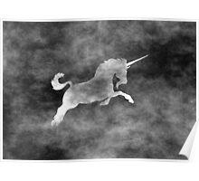 Grunge Unicorn Poster