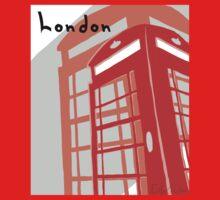 London Telephone Box Baby Tee