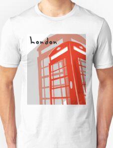 London Telephone Box Unisex T-Shirt