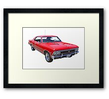 Red 1966 Chevy Chevelle SS 396 Framed Print