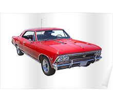Red 1966 Chevy Chevelle SS 396 Poster