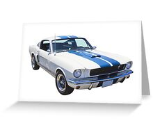 1965 GT350 Mustang Muscle Car Greeting Card