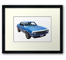 1968 Chevrolet Camaro 327 Muscle Car Framed Print
