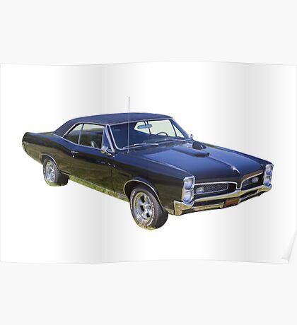 Black 1967 Pontiac GTO Muscle Car Poster