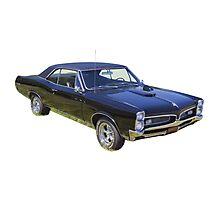 Black 1967 Pontiac GTO Muscle Car Photographic Print