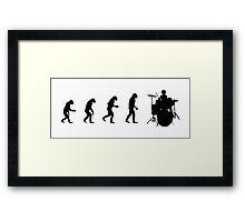 Drummer evolution Framed Print