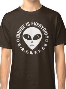 Geek Drake Equation - Fermi Paradox - Where are the Aliens Classic T-Shirt