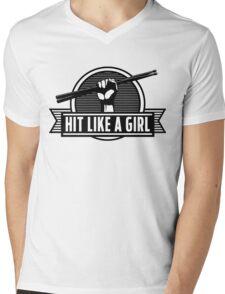 Drummer girl Mens V-Neck T-Shirt