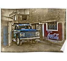 the old blue truck Poster