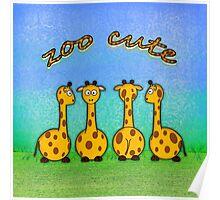 zoo cute giraffes Poster