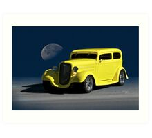 1935 Chevrolet Sedan 'Blue Moon Rising' Art Print