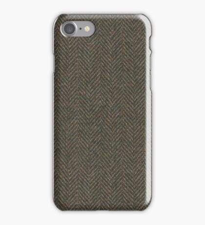 Herringbone Wool Tweed Fabric iPhone Case/Skin