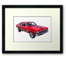 1969 Chevrolet Nova Yenko 427 Muscle Car Framed Print