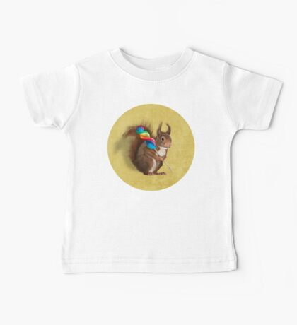 Squirrel with lollipop Baby Tee