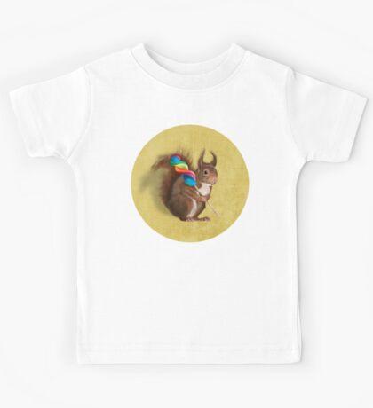 Squirrel with lollipop Kids Tee