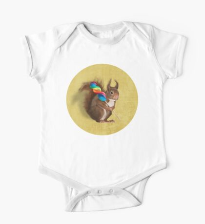 Squirrel with lollipop One Piece - Short Sleeve