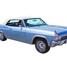 1965 Chevy Impala 327 Convertible Classic Car by KWJphotoart