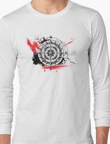 Modern Compass Long Sleeve T-Shirt