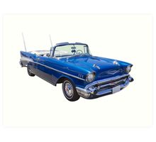 1957 Chevrolet Bel Air 2-door Convertible Art Print