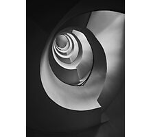 Modern staircase in black and white Photographic Print