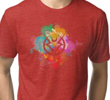 Shepard Splatter Colours Paint Tri-blend T-Shirt