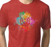 Shepard Splatter Colours Paint Tri-blend T-Shirt