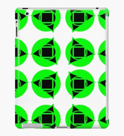 Green & black pattern iPad Case/Skin