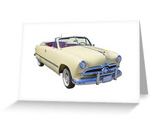 1949 Ford Custom Deluxe Convertible Antique Car Greeting Card