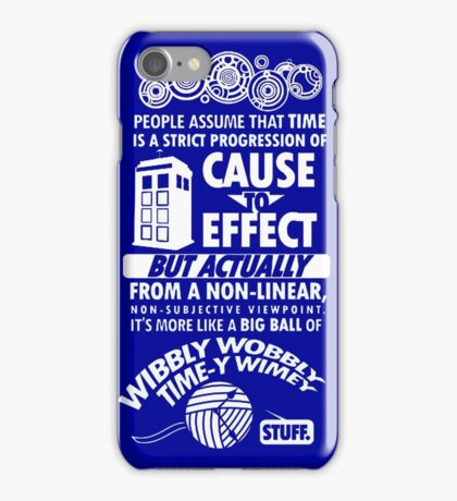 Wibbly wobbly iPhone Case/Skin